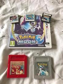 Pokemon games! Nintendo 3ds 2ds etc.... Moon Red Silver Sapphire