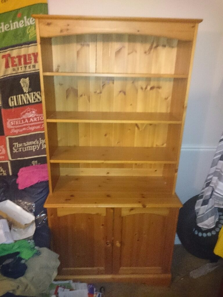 Pine Cabinet & Book Shelf (Willing to Negotiate Price)