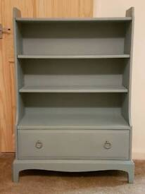 Solid wood Stag bookcase with large drawer