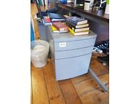 3 x Small metal filing cabinets