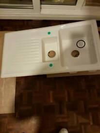 1.5 Bowl Ceramic Sink