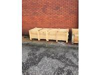 Storage crates - planters - firewood box