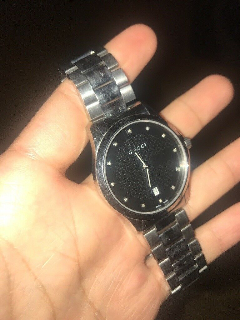 7a022cbdbcf Gucci timeless diamond men s watch (REAL) going cheap