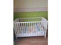 used ikea cot bed with matress