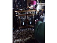 Oriental mother of pearl. Pillow cabinet forsale