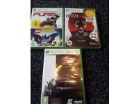 xbox 360 games bundle homefront/forza 3 /lego batman /pure