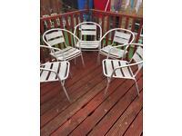 5 cafe style garden chairs (aluminium)