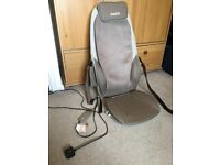 Homedics Shiatsu Max Massage chair back and shoulder massager with heat -used once like new RRP £150
