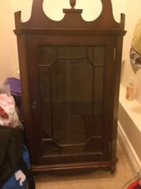 Wooden and Glads Display Cabinet
