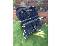 Bugaboo Donkey duo Twin Black Pushchairs Double Seat pram car ! immaculate !