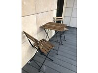 Ikea TARNO outdoor table and 2 chairs