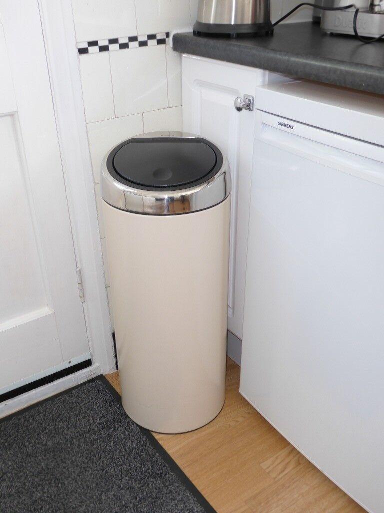 Brabantia Touch Bin 30 Liter.Brabantia Touch Bin 30 L Almond Epsom Pick Up In Epsom