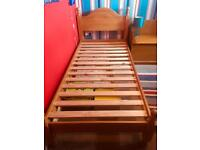 Single bed - pine - with mattress