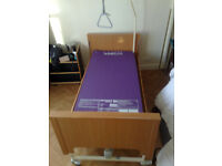 roma maxx m5 disabled homecare bed used (with unused mattress), worn veneer