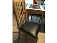2 attractive oak dinning room chairs