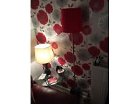 Red floor lamp new condition