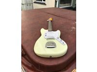 Vintage Looking Electric Guitar In Vintage White. Right Handed.