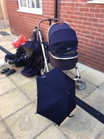 Mama's and Papa's Umbro 2 - M & P Pram, Stroller,Push chair, Car seat & isofix base for sale
