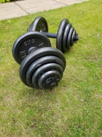 Dumbbells with weights 20kg each