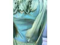Stunning Designer Mother Of The Bride Groom Wedding Outfit Silk BNWT RRP £475!!