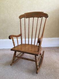 Vintage Oak Hill Child's Rocking Chair
