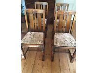 Set of 4 Oak Dining Room Chairs £50 or £15 each