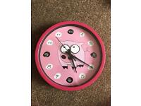 Pig wall clock - eyes follow the second hand as it moves!