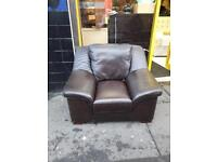 Big brown leather armchair £50 a piece