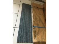 Interface carpet tiles brand new in the box 4 Square Metres green grey