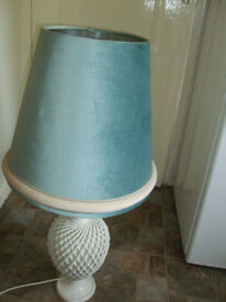 Creamware table lamp large lovely lamp
