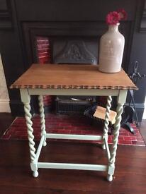 Hand painted solid wood table