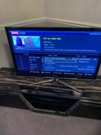 """Samsung 40"""" TV with Chrome Stand"""