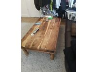Table, large rustic, Jali, sheesam type.