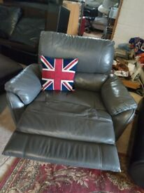 Grey Recliner Snuggle chair Snuggler Manual Deliv Poss