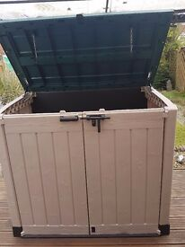 Perfect Keter lockable shed for garden storage