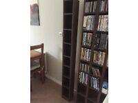 CD/DVD Tall Media Storage Walnut Effect