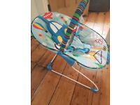 Baby bouncer (musical and vibrates)