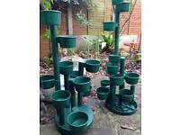 Plastic garden planter towers