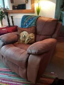 Brown recliner rocker