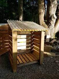 Heavy duty log shed