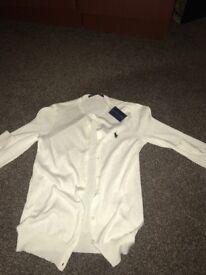 White Ralph Lauren cardigan NEW size S