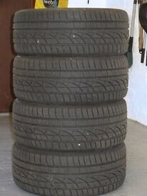 Beat the winter frost - 4 Hankook Winter tyres (with good tread) 245/45 R17 - £120