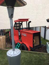 Hand made kids garden tractor play frame