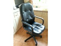 Black Computer/Office Gas Lift Chair