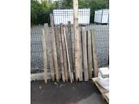 Assorted fence posts - only sold as one lot