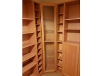 Bargain Ikea Study bookshelfs, glass display unit plus 2 cd shelves