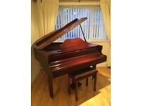Baby Grand Piano - Moutrie model, Mahogney