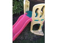 Little tikes slide and climbing frame