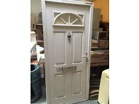 UPVC DOOR WITH FRAME WHITE H 2022MM W 823 MM