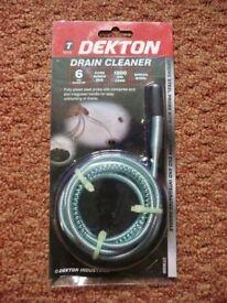 Dekton Drain Cleaner / Unblocker Spring Steel Probe with Corkscrew end 1800mm long